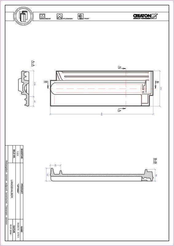 Product CAD file TERRA OPTIMA half-width tile LH