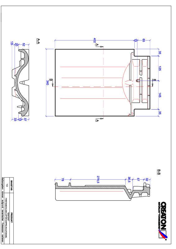 Product CAD file SINFONIE ridge connection ventilating double roll tile FALDWZ