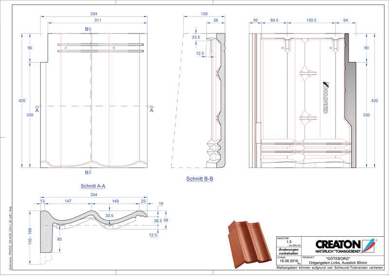 Product CAD file GÖTEBORG chaperonpan gevelpan links beton PultOGL-90