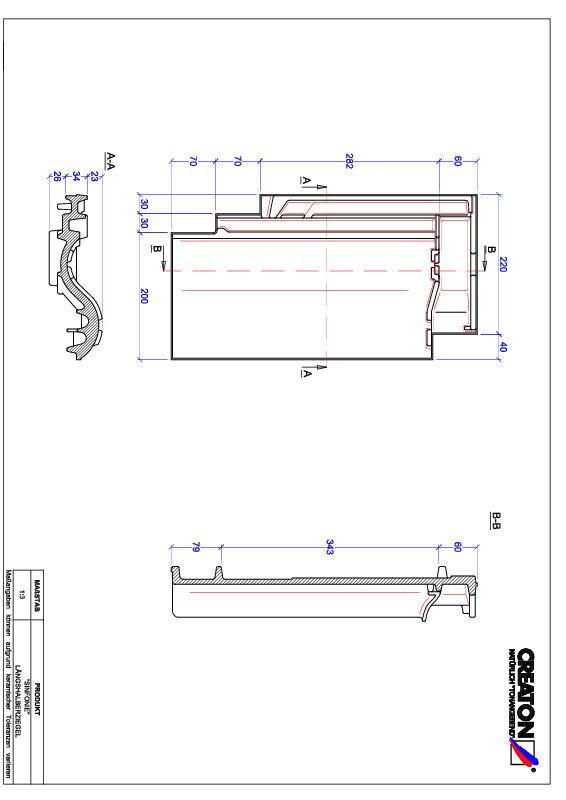 Product CAD file SINFONIE halve pan LH