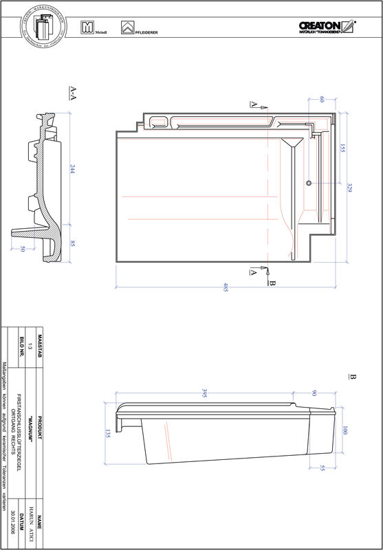 Product CAD file MAGNUM ridge connection ventilator verge right FALOGR