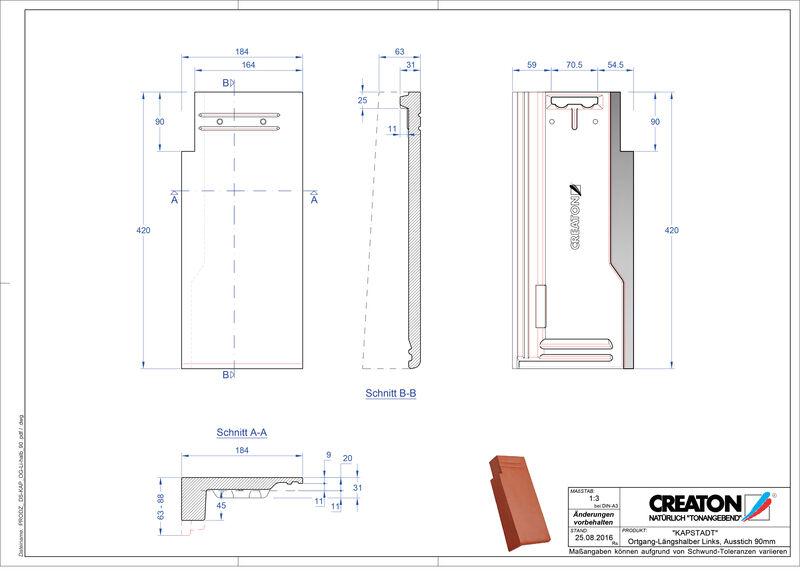 Product CAD file KAPSTADT gevelpan links OGL-halb-90