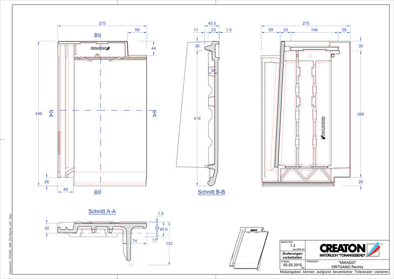 Product CAD file MIKADO gevelpan rechts OGR
