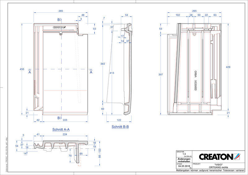 Product CAD file VISIO verge right OGR