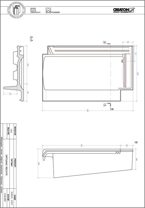 Product CAD file TERRA OPTIMA gevelpan rechts OGR