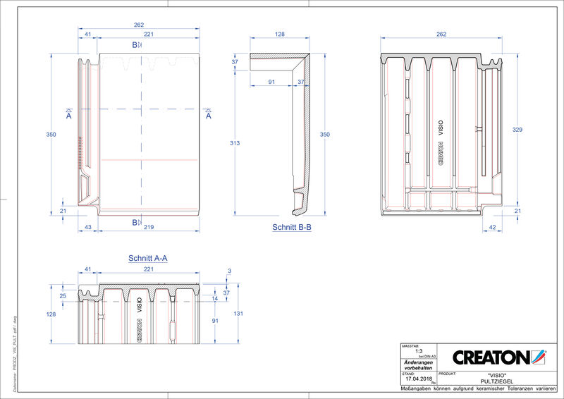Product CAD file VISIO shed roof tile PULT
