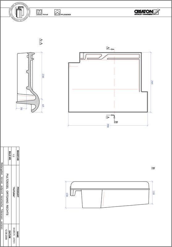 Product CAD file FUTURA shed-/chaperonpan rechts PULTOGR