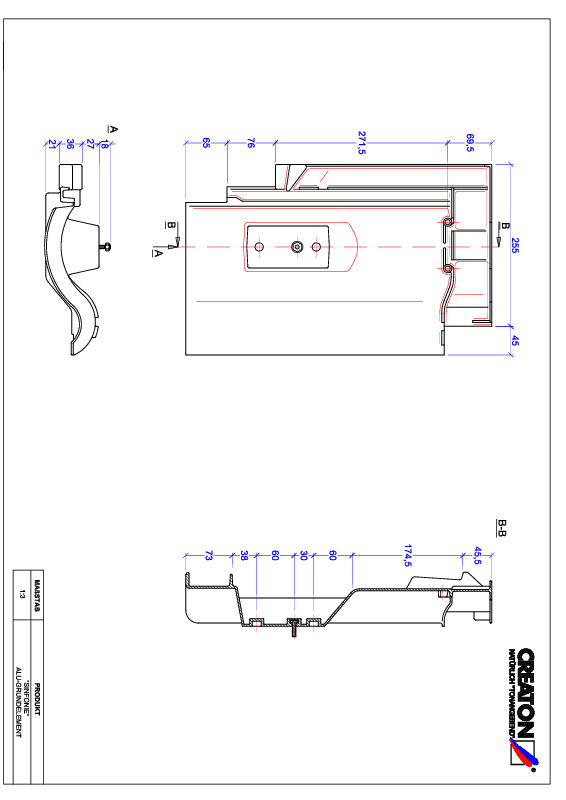 Product CAD file SINFONIE basis, aluminium GRUNDALU