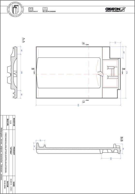 Product CAD file TERRA OPTIMA ridge connection ventilating double roll tile FALDWZ