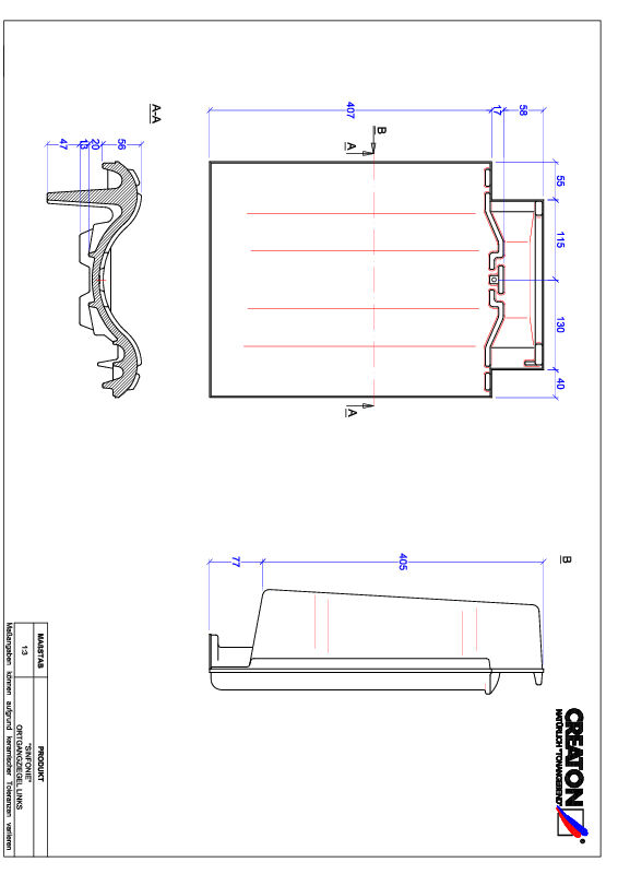 Product CAD file SINFONIE gevelpan links OGL