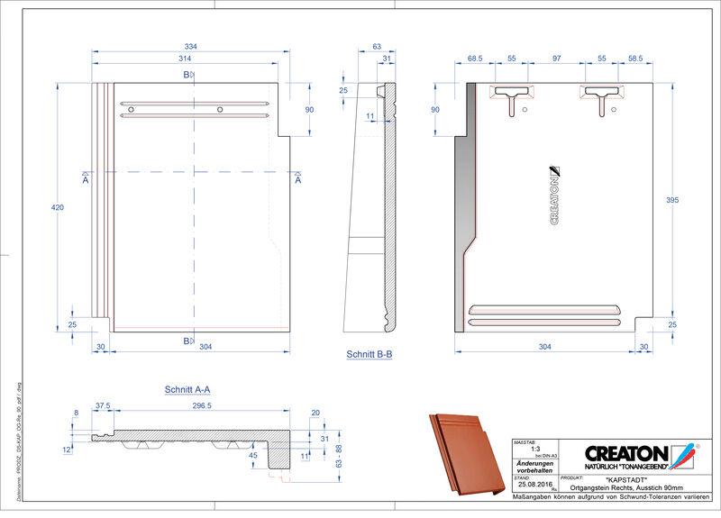 Product CAD file KAPSTADT gevelpan rechts OGR-90