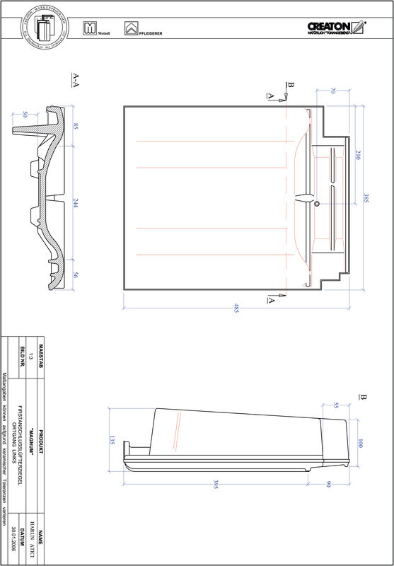 Product CAD file MAGNUM ridge connection ventilator verge left FALOGL