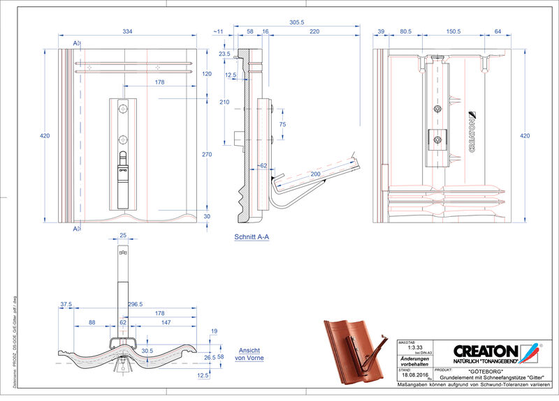 Product CAD file GÖTEBORG basiselement Gitter
