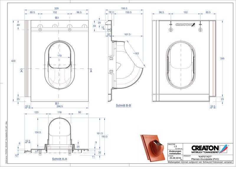 Product CAD file KAPSTADT accessories Grundplatte-PVC