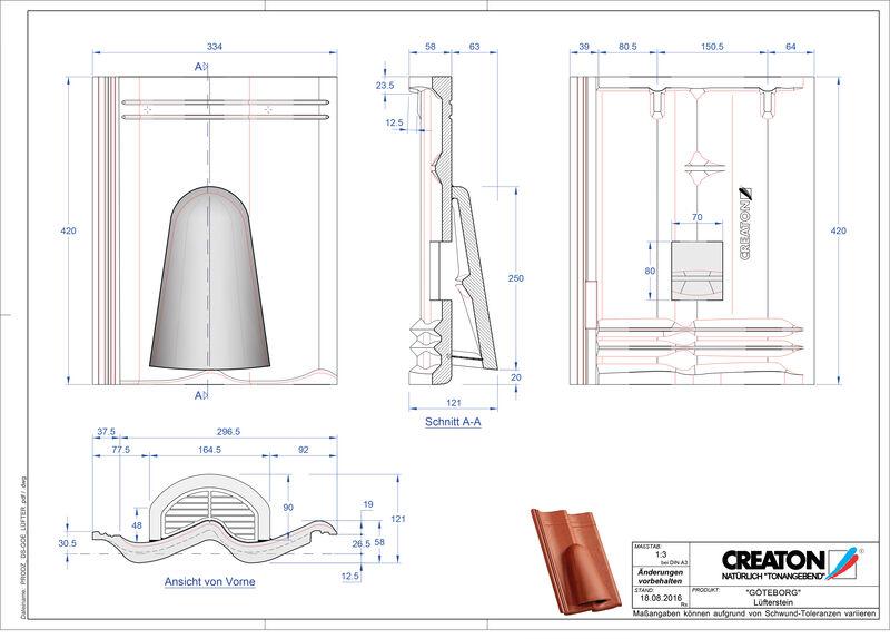 Product CAD file GÖTEBORG ventilatiepan beton Luefterstein