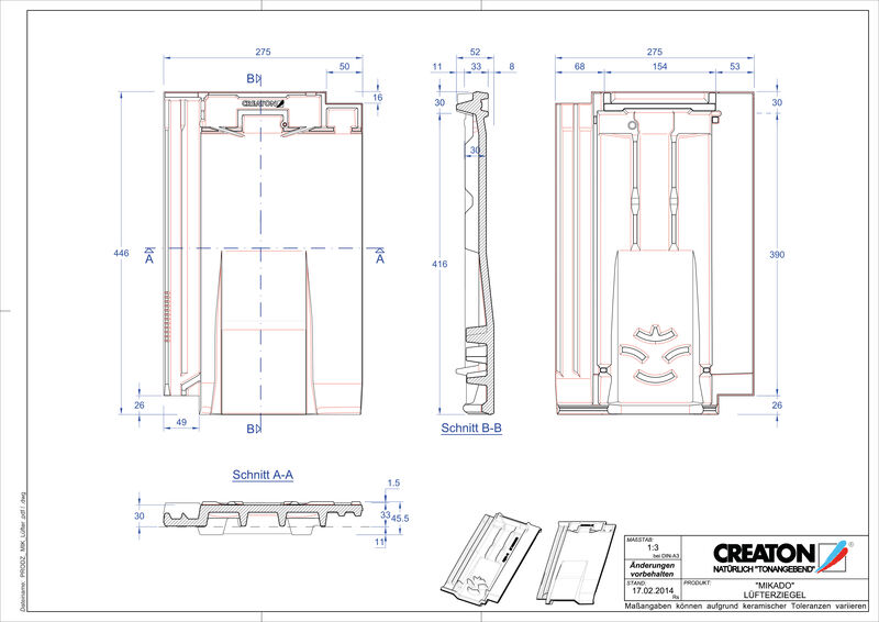 Product CAD file MIKADO ventilatiepan LUEFTZ