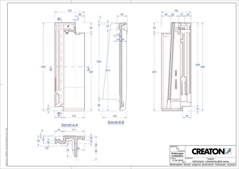 Product CAD file VISIO half verge tile right LHOGR