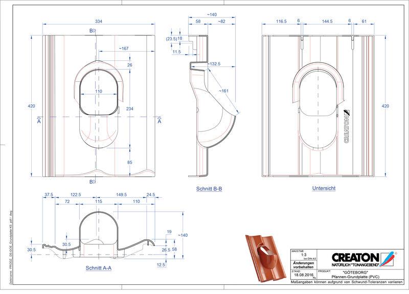 Product CAD file GÖTEBORG accessoires Grundplatte-PVC
