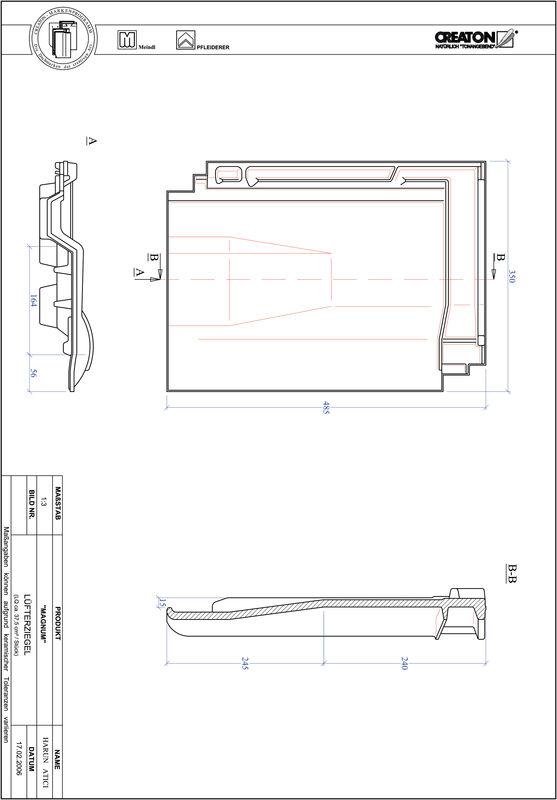 Product CAD file MAGNUM ventilating tile LUEFTZ