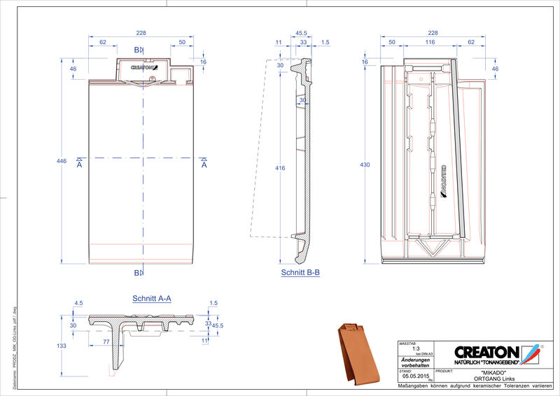 Product CAD file MIKADO gevelpan links OGL
