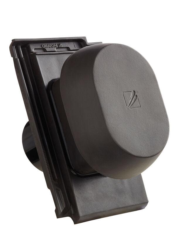 VIS SIGNUM ceramic vapour vent DN 150/160 mm incl. sub-roof connection adapter