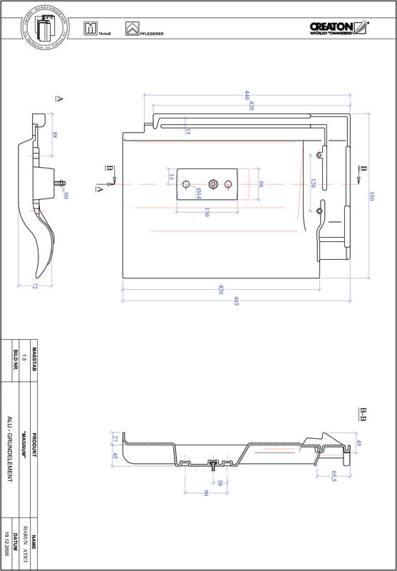 Product CAD file MAGNUM base, aluminium GRUNDALU
