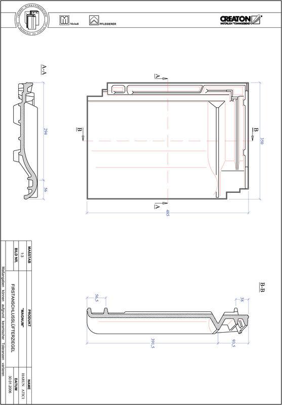 Product CAD file MAGNUM ridge connection ventilating tile FALZ