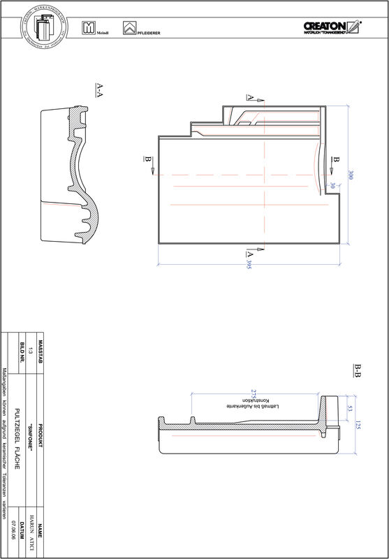 Product CAD file SINFONIE shedpan PULTFLA