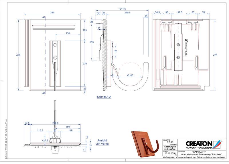 Product CAD file KAPSTADT base element Rundholz