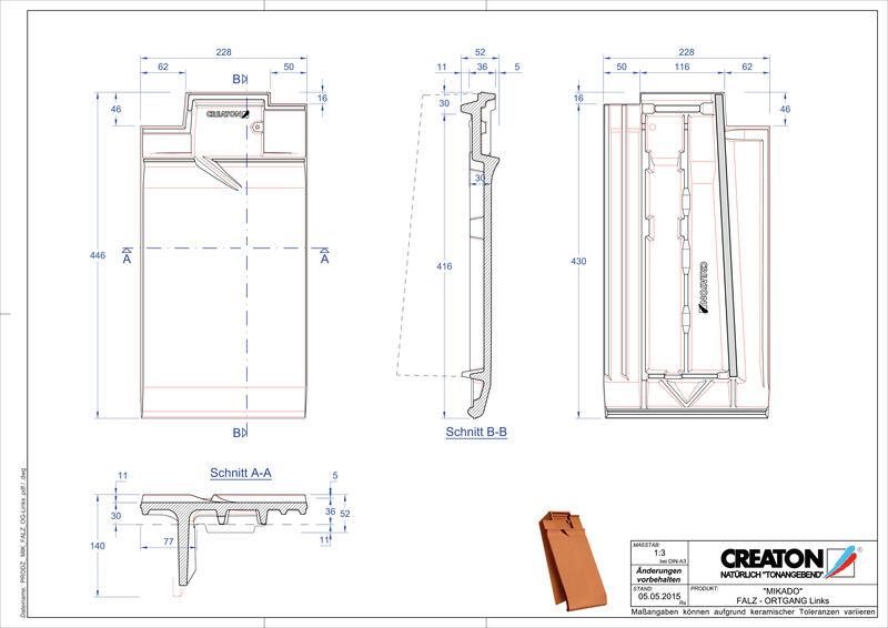 Product CAD file MIKADO ridge connection ventilator verge left FALOGL