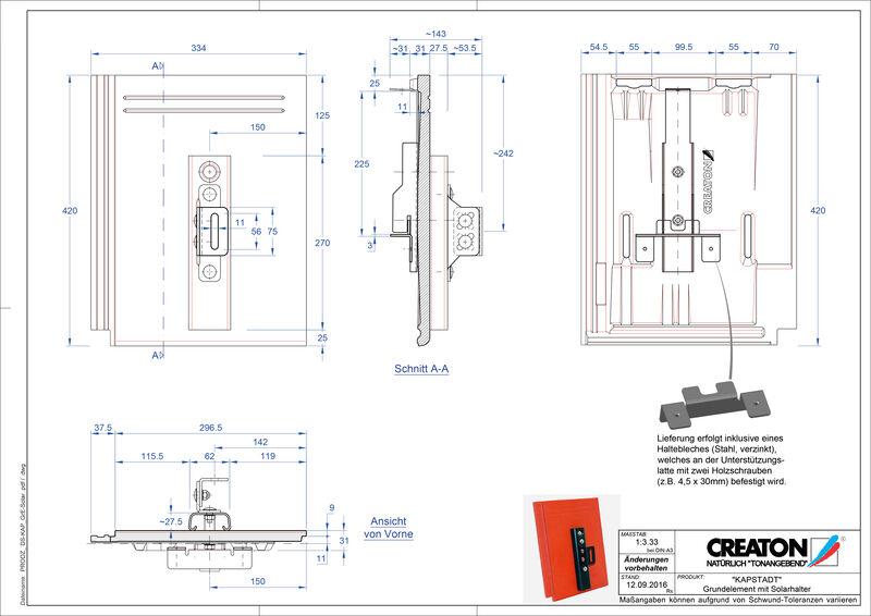 Product CAD file KAPSTADT base element Solar