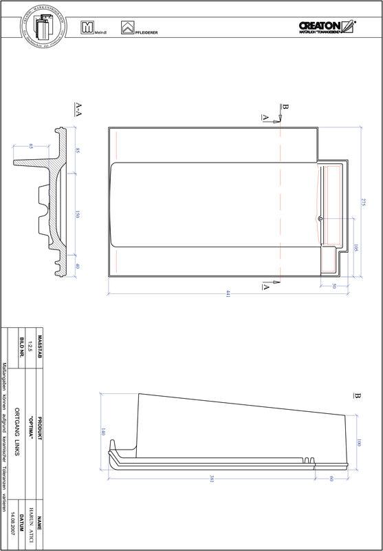 Product CAD file TERRA OPTIMA gevelpan links OGL