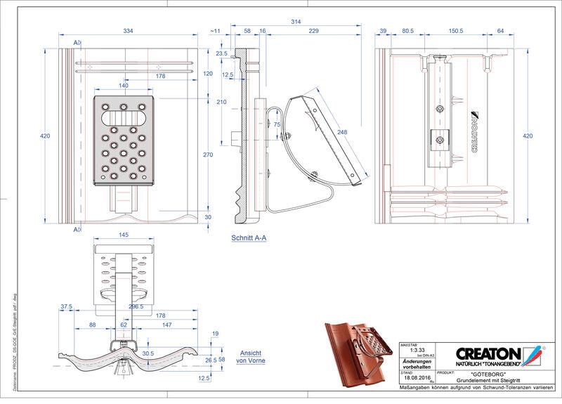 Product CAD file GÖTEBORG basiselement Steigtritt