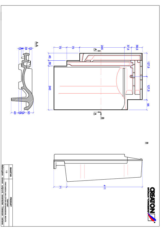 Product CAD file SINFONIE ridge connection ventilator verge right FALOGR