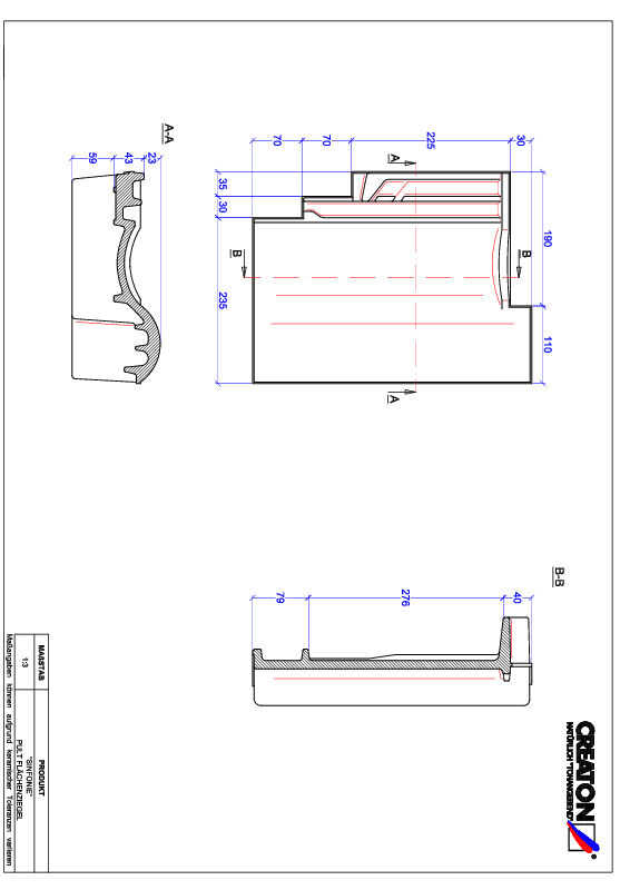 Product CAD file SINFONIE shedpan PULT