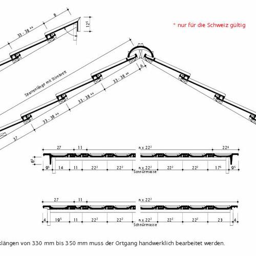 Technishce tekening OPTIMA Zwitserland OPTIMA
