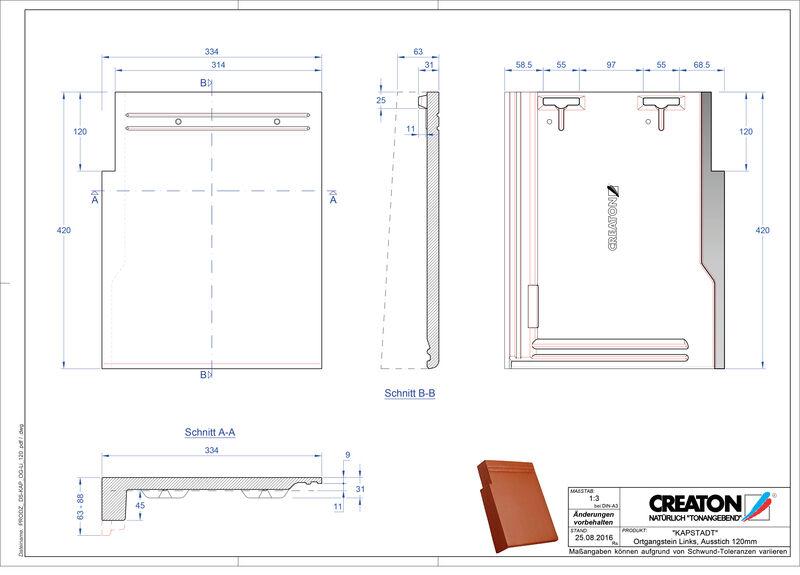 Product CAD file KAPSTADT gevelpan links OGL-120