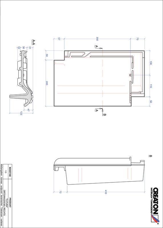 Product CAD file FUTURA gevelpan rechts OGR