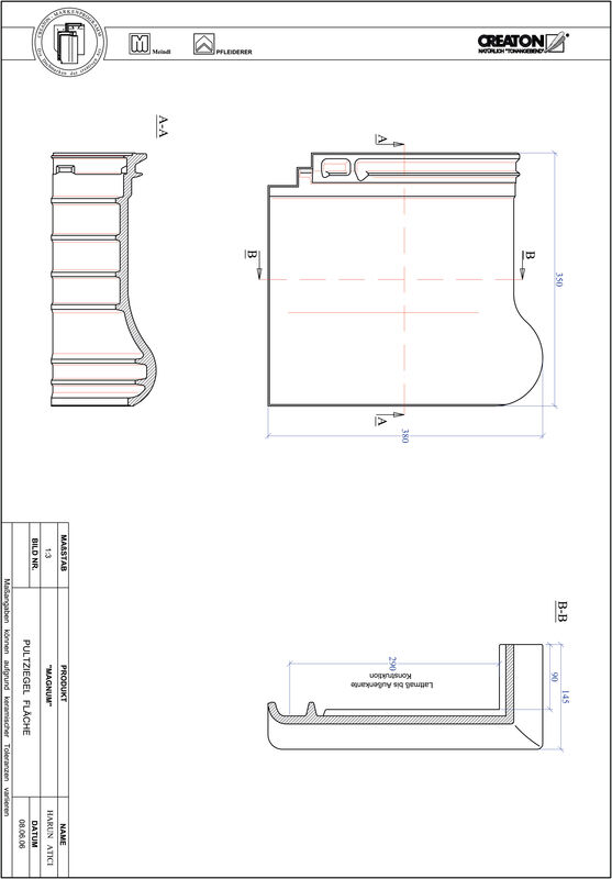 Product CAD file MAGNUM shed roof tile field PULTFLA