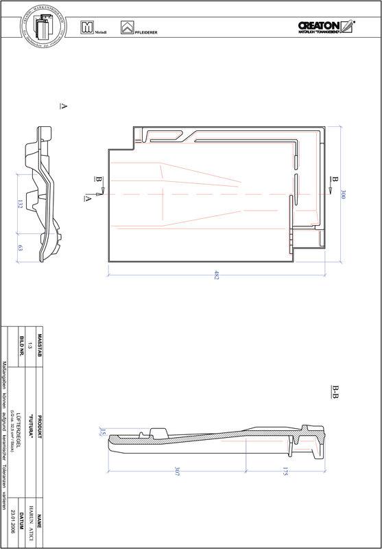Product CAD file FUTURA ventilatie pan LUEFTZ