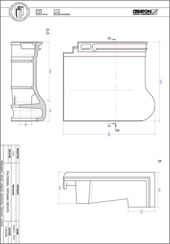 Product CAD file MAGNUM shed roof tile verge right PULTOGR