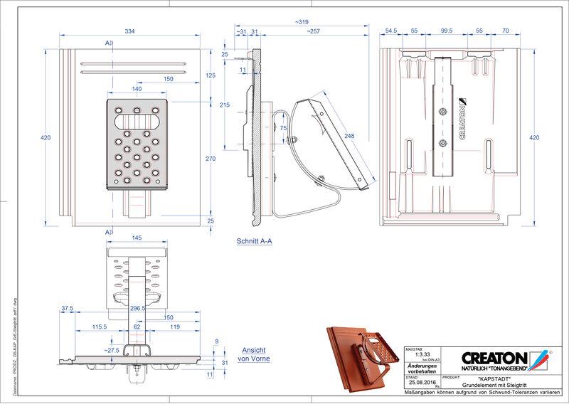 Product CAD file KAPSTADT base element Steigtritt
