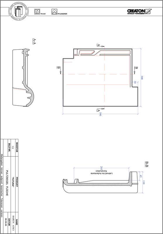 Product CAD file FUTURA shed-/chaperonpan PULTFLA