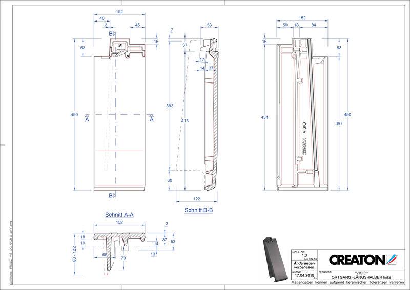 Product CAD file VISIO half verge tile left LHOGL