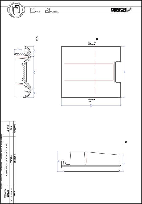 Product CAD file FUTURA shed-/chaperonpan links PULTOGL