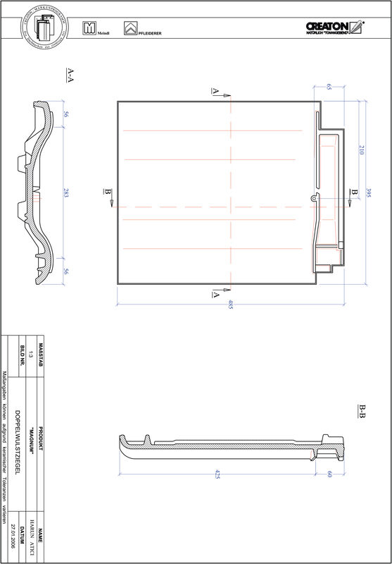 Product CAD file MAGNUM double roll tile DWZ