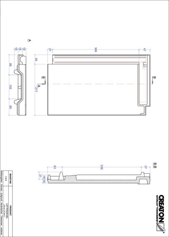 Product CAD file DOMINO ventilatiepan LUEFTZ