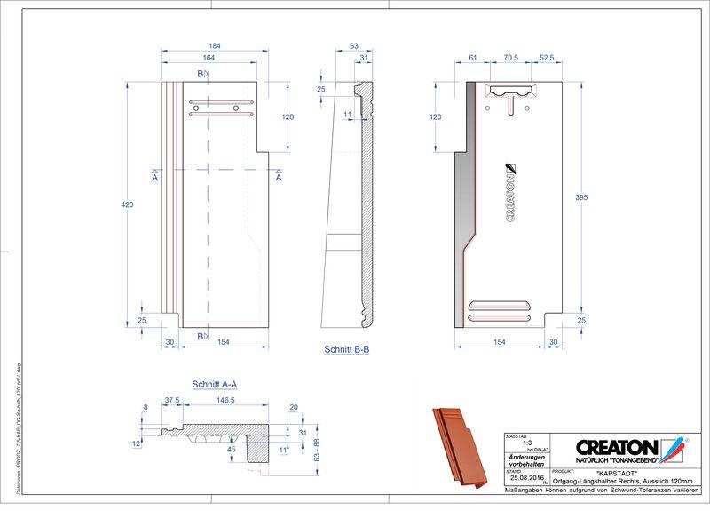 Product CAD file KAPSTADT gevelpan rechts OGR-halb-120