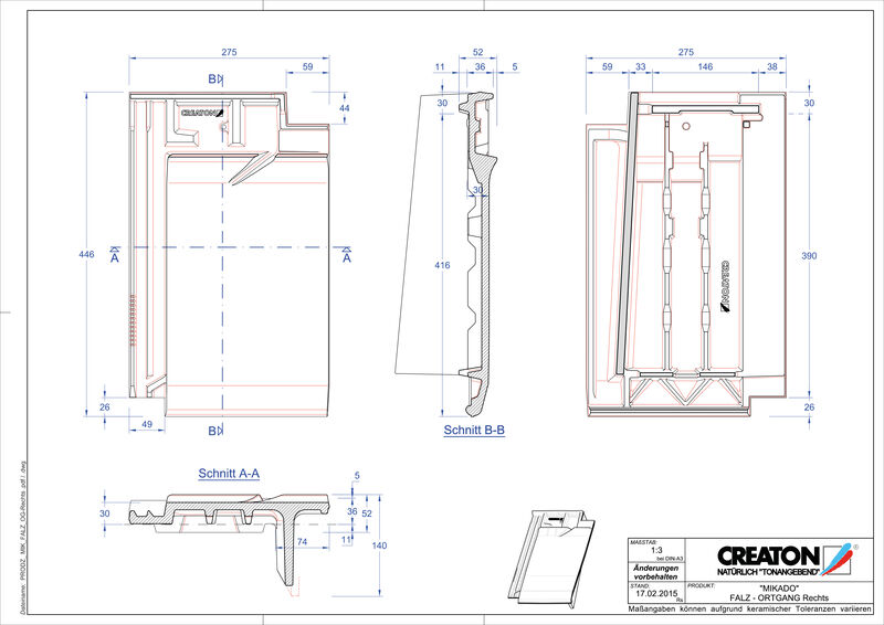 Product CAD file MIKADO ridge connection ventilator verge right FALOGR